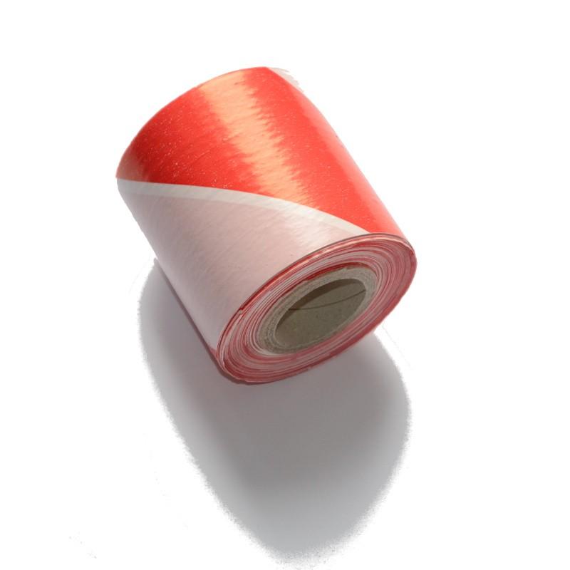 Taśma ostrzegawcza biało-czerwona 80mm/100m
