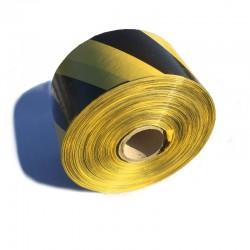 Taśma ostrzegawcza żółto-czarna 70mm/500m