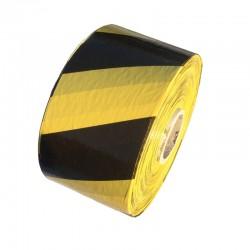 Taśma ostrzegawcza żółto-czarna 80mm/500m