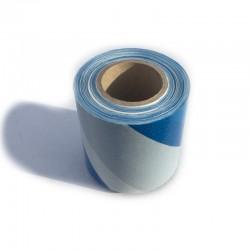 Taśma ostrzegawcza biało niebieska 70mm/100m