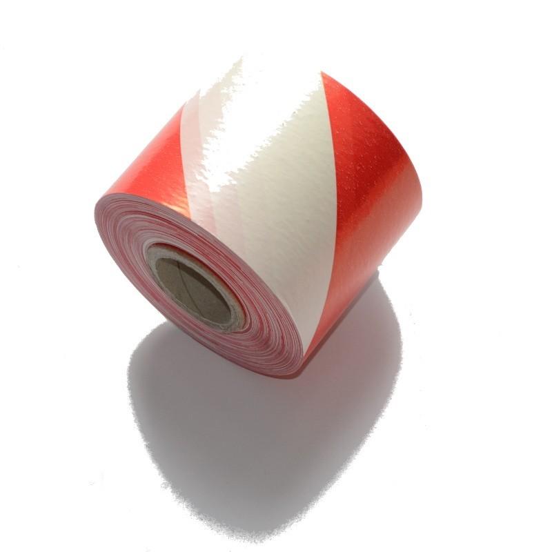 Taśma ostrzegawcza biało-czerwona 70mm/200m
