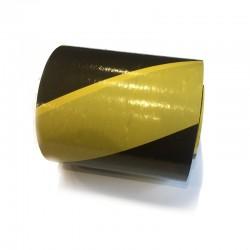 Taśma ostrzegawcza żółto-czarna 70mm/100m
