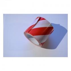 Taśma ostrzegawcza biało czerwona samoprzylepna 100mm/33m