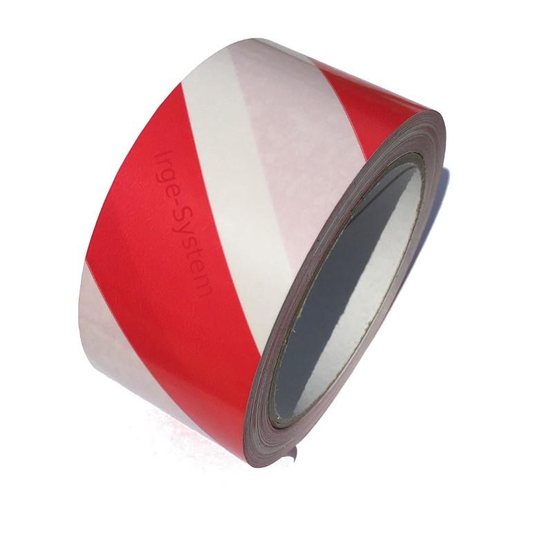 Taśma ostrzegawcza biało czerwona samoprzylepna 50mm/33m