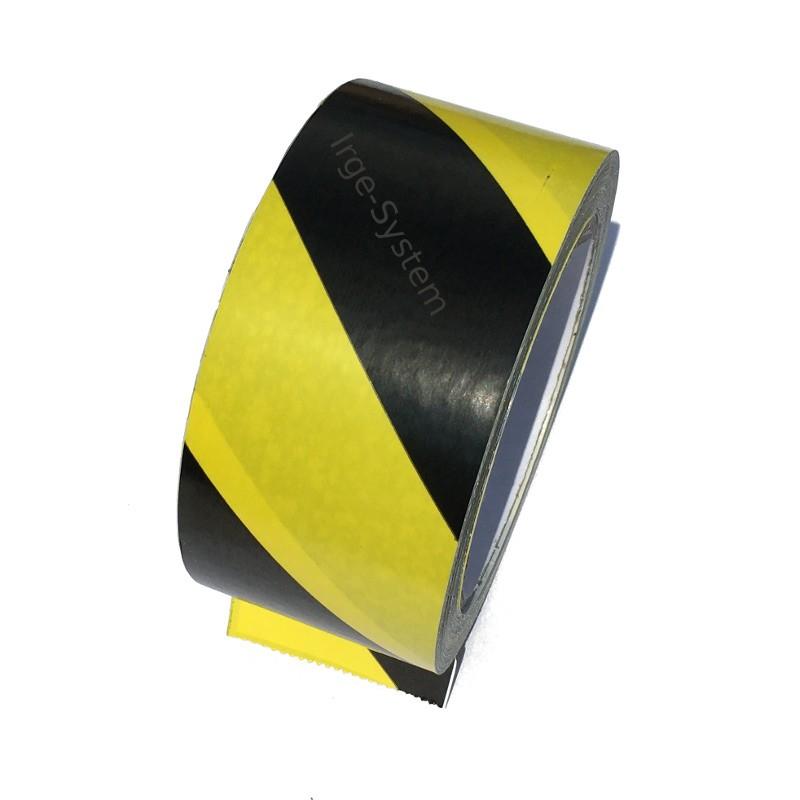 Taśma ostrzegawcza żółto czarna samoprzylepna 50mm/33m