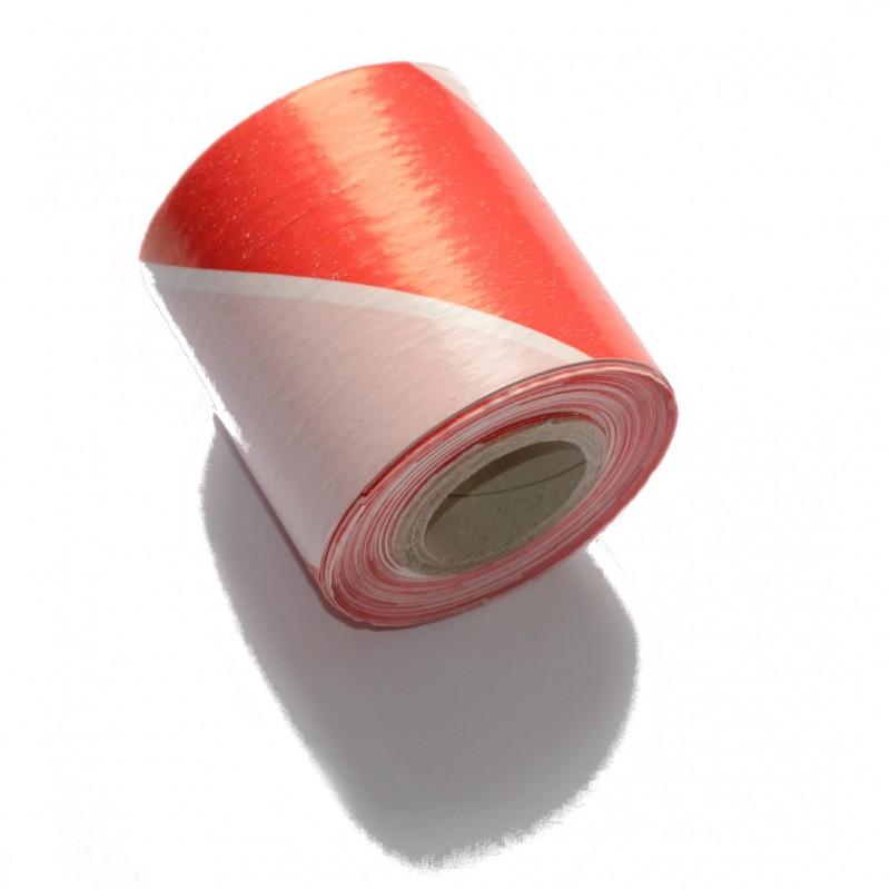 Taśma ostrzegawcza biało-czerwona 70mm/100m