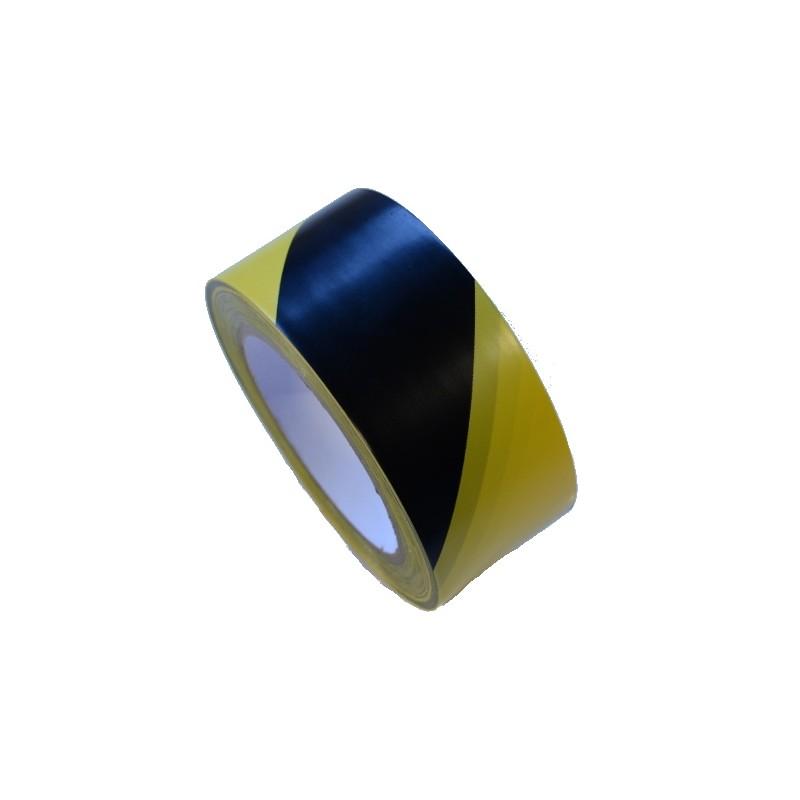 Taśma winylowa 50mm/33m żółto-czarna